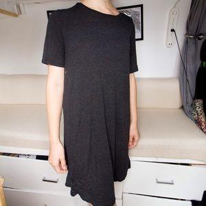 Dark Grey T-shirt Dress